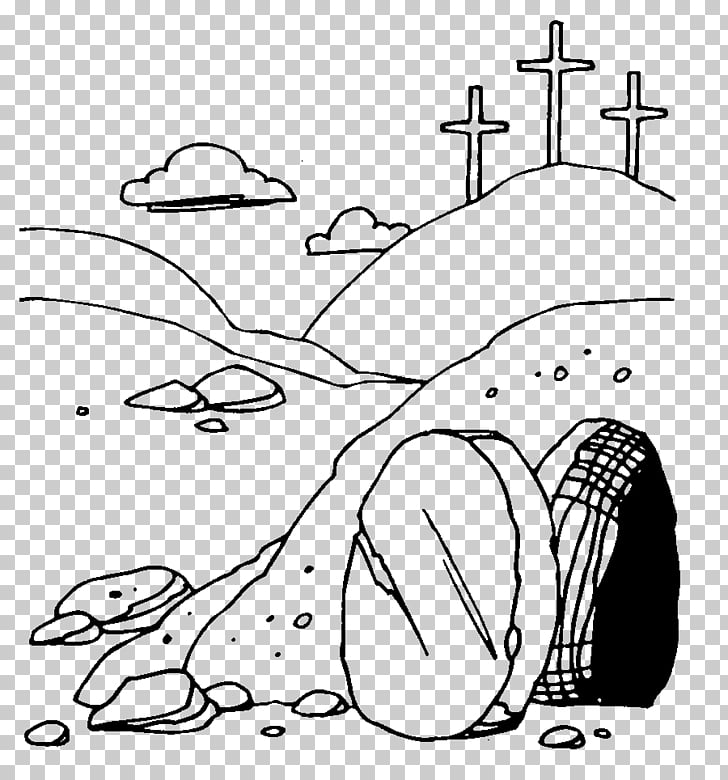 Resurrection of Jesus Easter Empty tomb , Neon Cross s PNG.