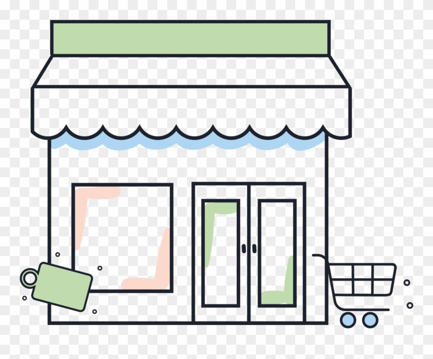 Illustration Of A Retail Store Clipart (#4938253).