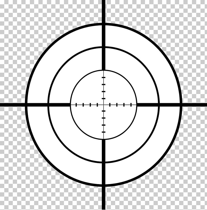 Reticle Telescopic sight , Crosshairs s PNG clipart.