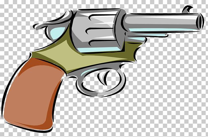 Firearm Starting pistol Revolver , Cartoon Revolver s PNG.