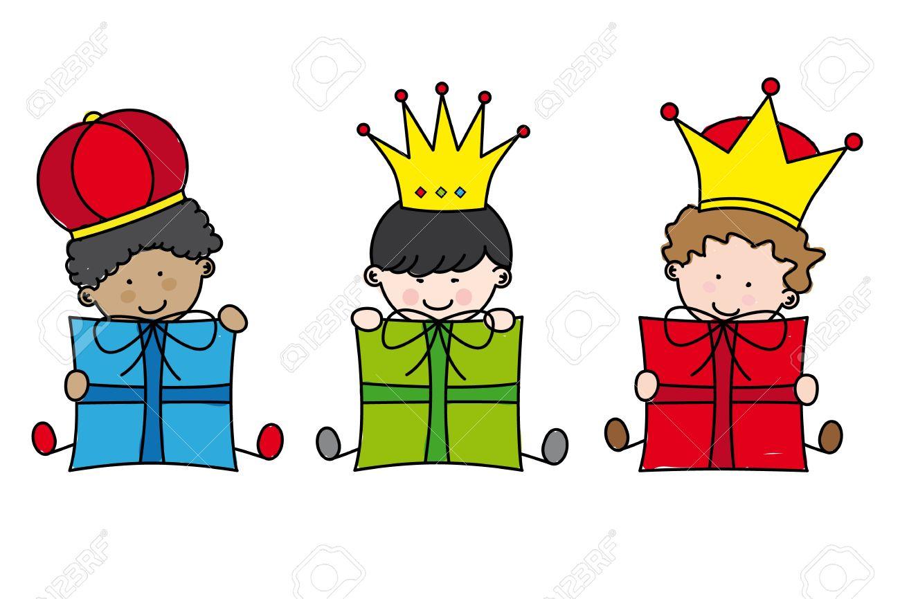 Navidad. Reyes Magos Ilustraciones Vectoriales, Clip Art.