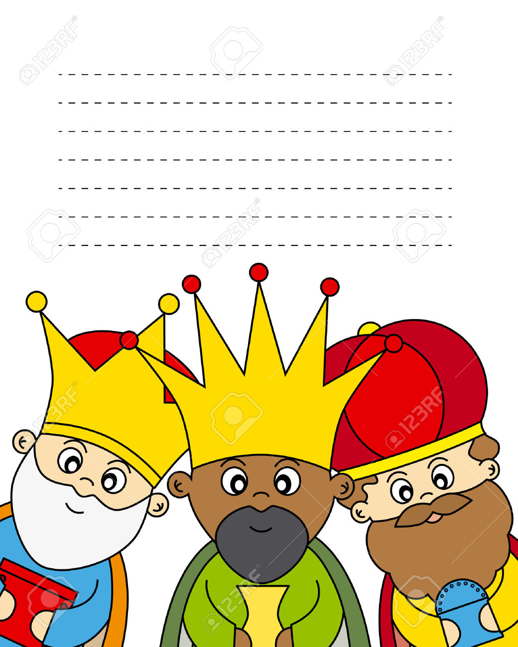 clipart reyes magos #3