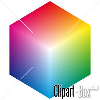 CLIPART RGB CUBE.