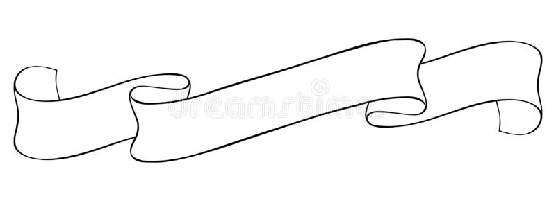 Ribbon Banner Outline Stock Illustrations.