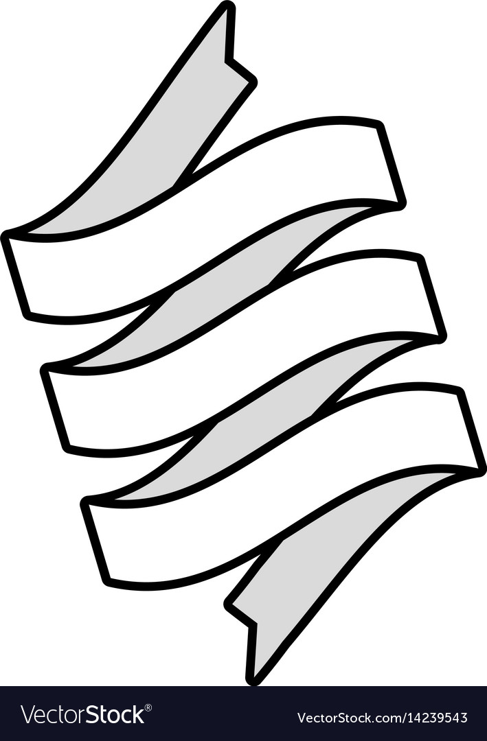 Ribbon banner decoration icon outline.