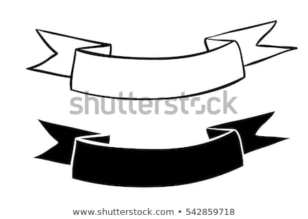 Outlined Ribbon Banner Free Vector Art.