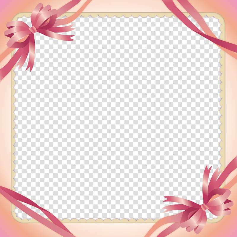 Pink ribbon , Pink Ribbon Border transparent background PNG clipart.