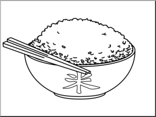Clip Art: Rice B&W I abcteach.com.