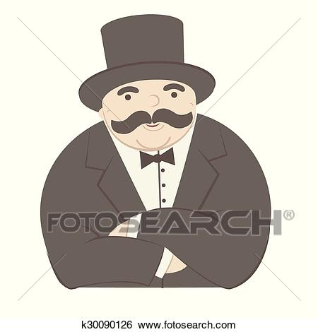 Clip Art Of Rich Man K30090126.