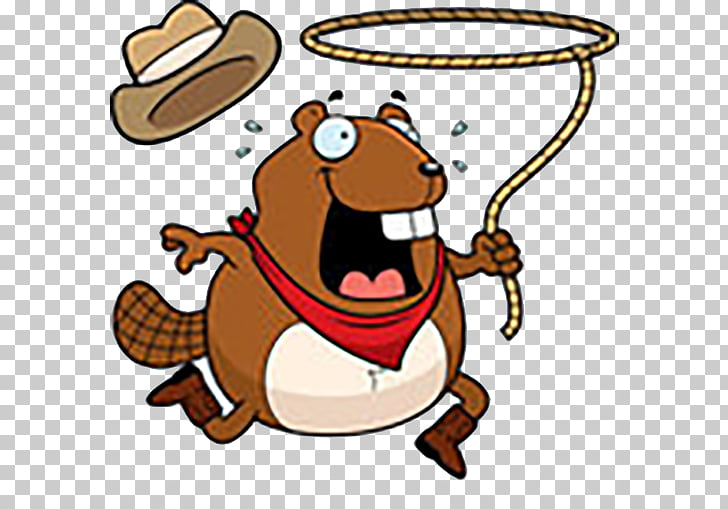 Rodeo Cartoon Bull riding , Escape the beaver PNG clipart.