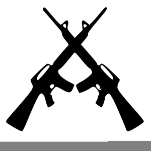 Crossing Rifles Clipart.