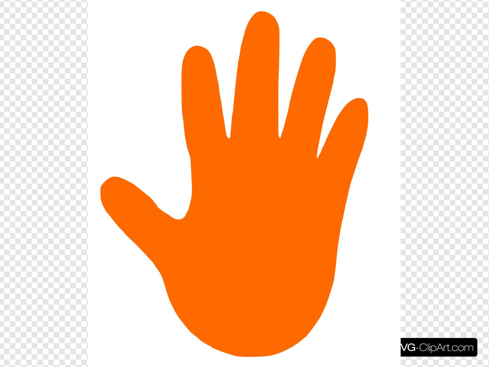 Orange Right Hand Clip art, Icon and SVG.