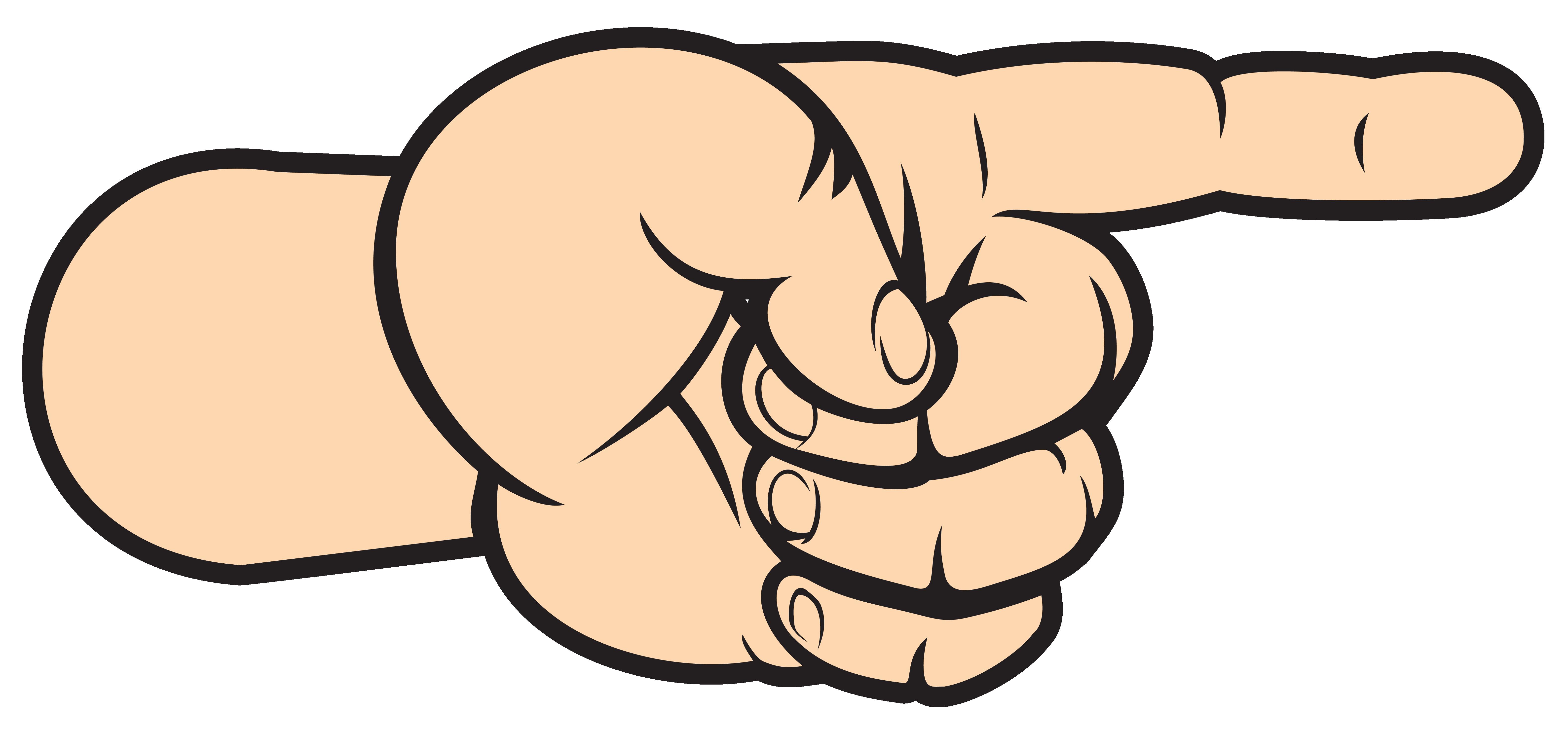 Right Hand Arrow Transparent PNG Clip Art Image.