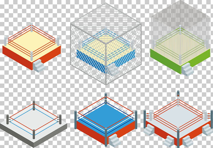Euclidean Professional wrestling , Ring collection PNG.