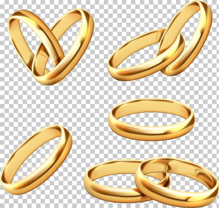 Wedding ring Gold Stock photography, 5 gold ring design.