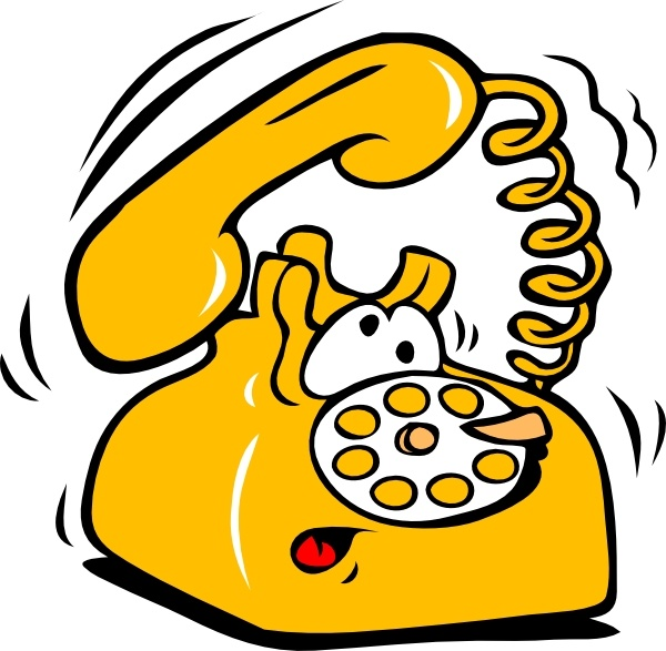 Ringing Phone clip art Free vector in Open office drawing.