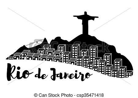Rio de janeiro skyline Stock Illustration Images. 276 Rio de janeiro.