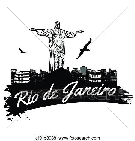 Rio de Janeiro poster Clip Art.