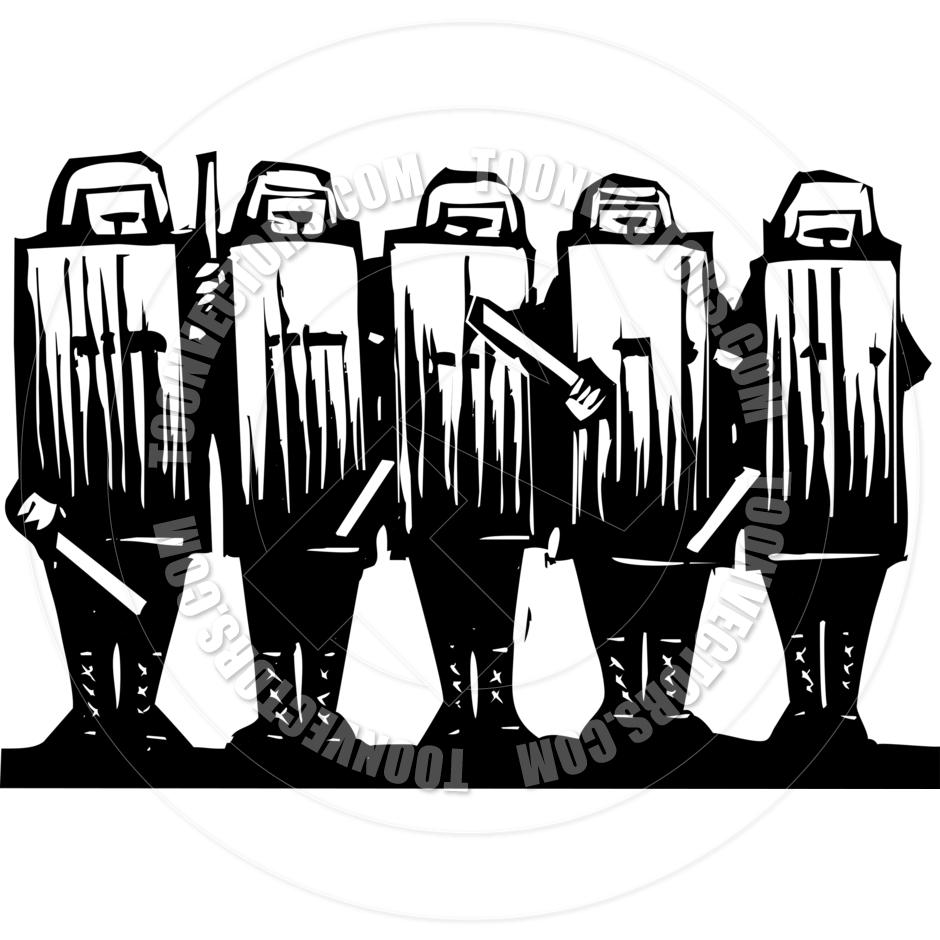 Riot Clip Art.
