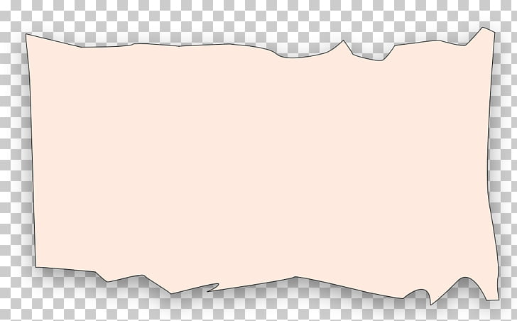 Paper Rectangle Font, Ripped Paper PNG clipart.