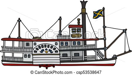 Historical steam riverboat.