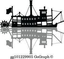 Riverboat Clip Art.
