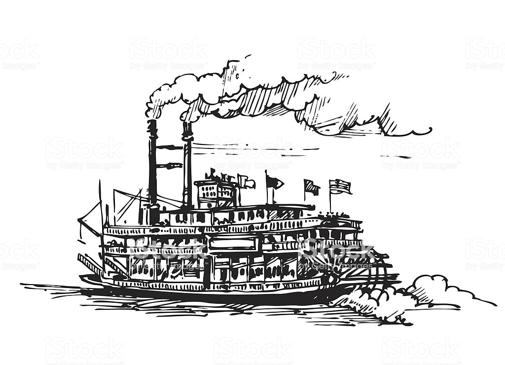 Best Riverboat Illustrations, Royalty.