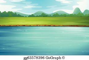 River Flow Clip Art.