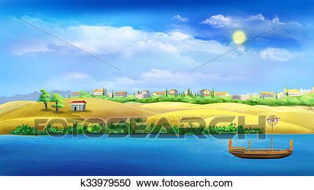 Nile river Clipart.