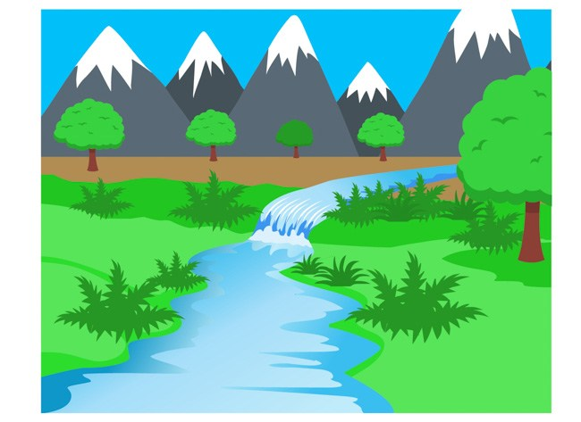 Flowing water ecosystem rivers streams clipart » Clipart Portal.