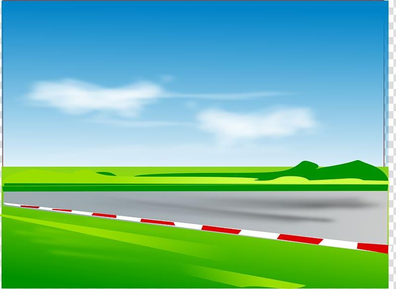 Race track Road racing Auto racing , Open Road transparent.