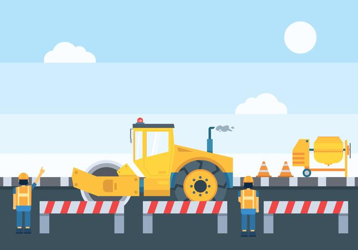 Road Construction Illustration.