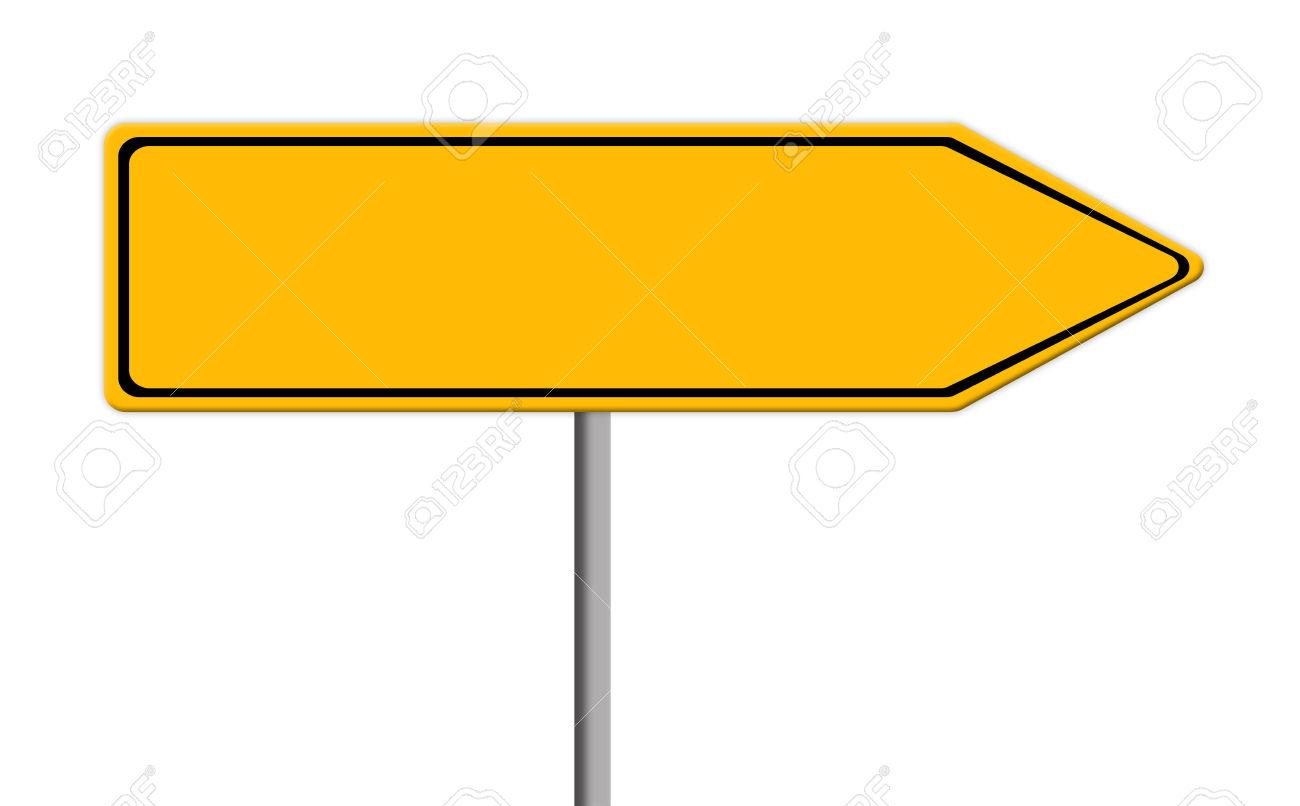 Road sign arrow clipart.
