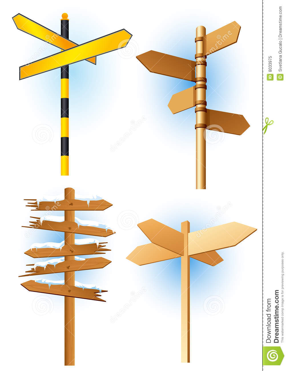 Direction Road Signs Royalty Free Stock Photo.