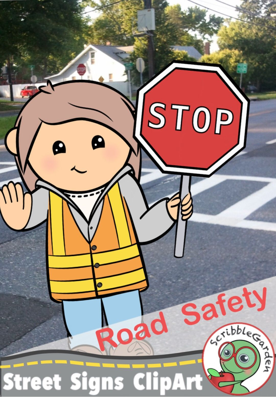 Road Safety: Street Signs ClipArt.