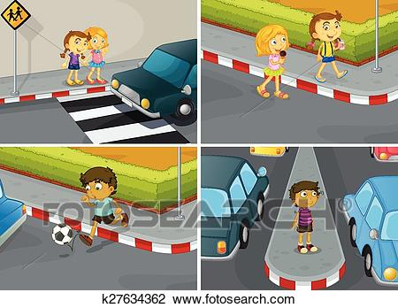 Road safety Clipart.