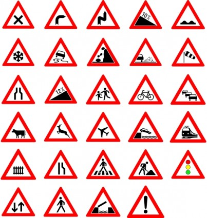 Road Signs Clip Art Download.