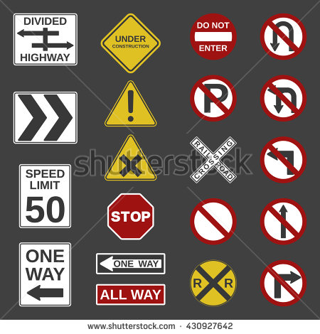 Clipart Road Signs No Dirty Language.