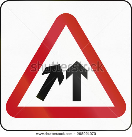 Merge Sign Stock Images, Royalty.