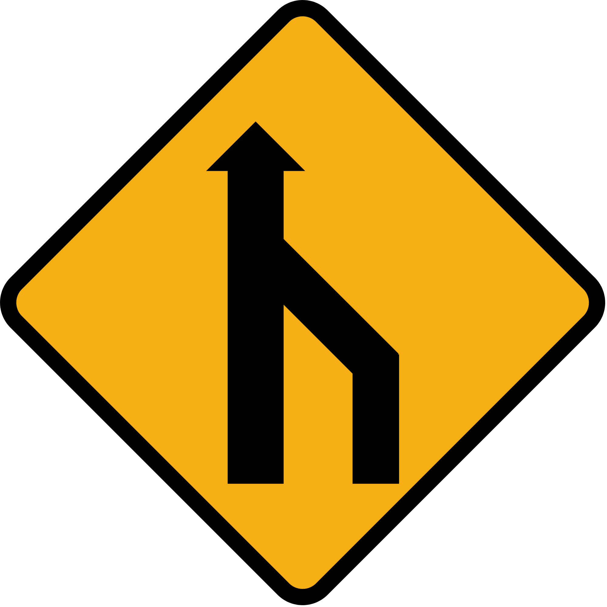 File:Diamond road sign merge to single lane.svg.