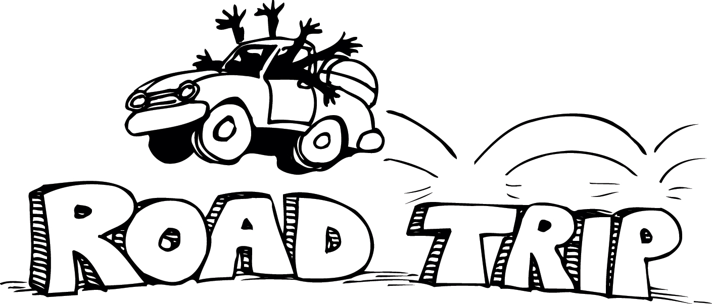 Free Road Trip Clipart Black And White, Download Free Clip.