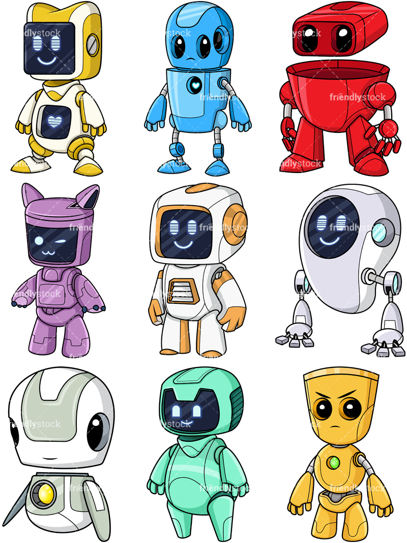 Cute Robots Collection.