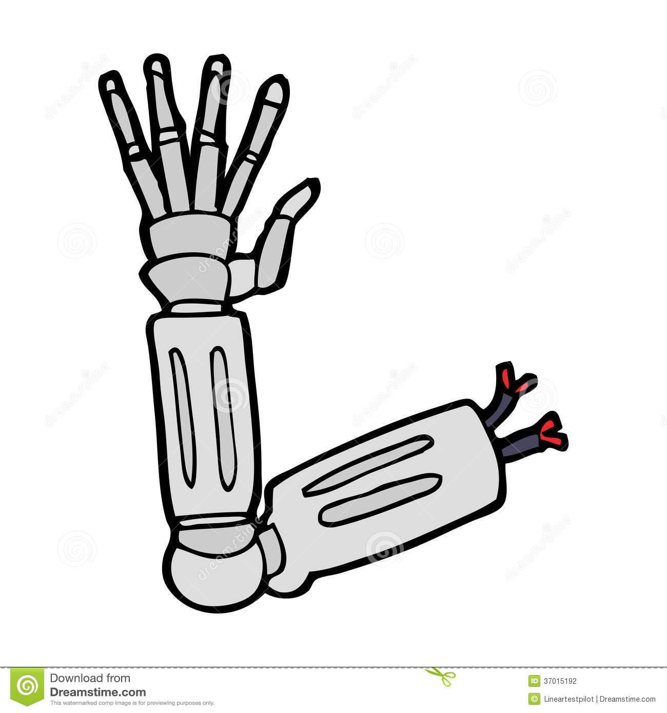 Robot Hand Clipart.