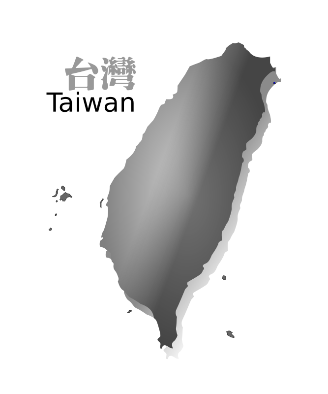 Free Clipart: Taiwan map (R.O.C.) grey ver.