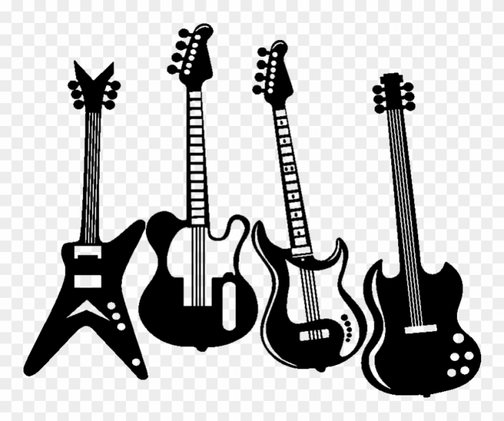 Library of black and white stock rock roll png files.