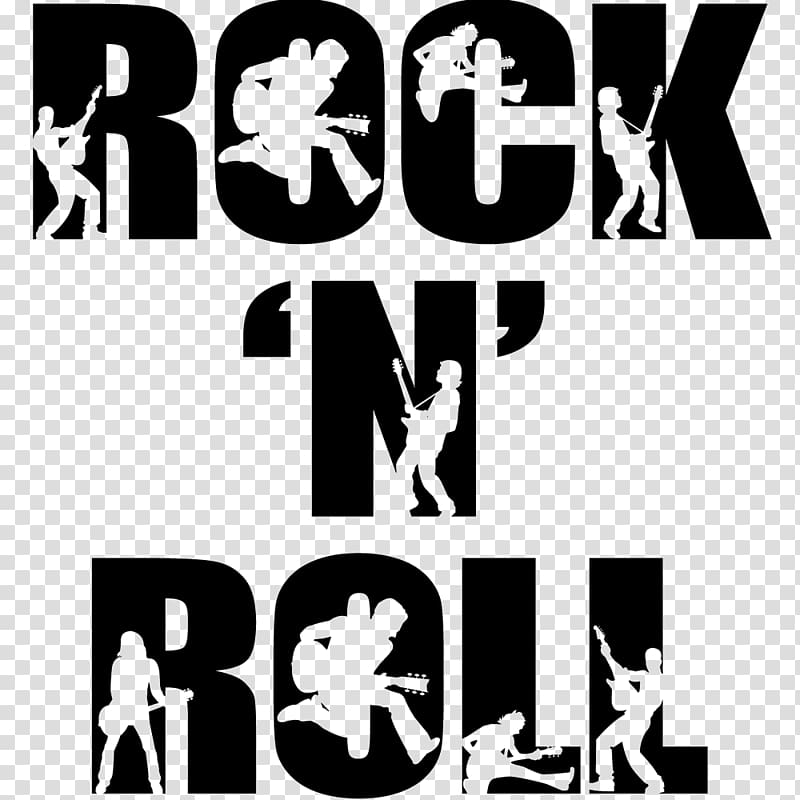 Rock n roll post, Rock and roll Rock music Silhouette Art.