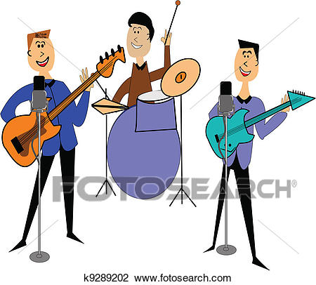 Rock band Clipart.