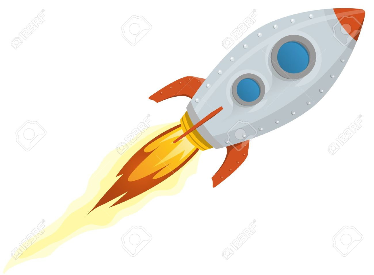 490 Rocket Ship free clipart.
