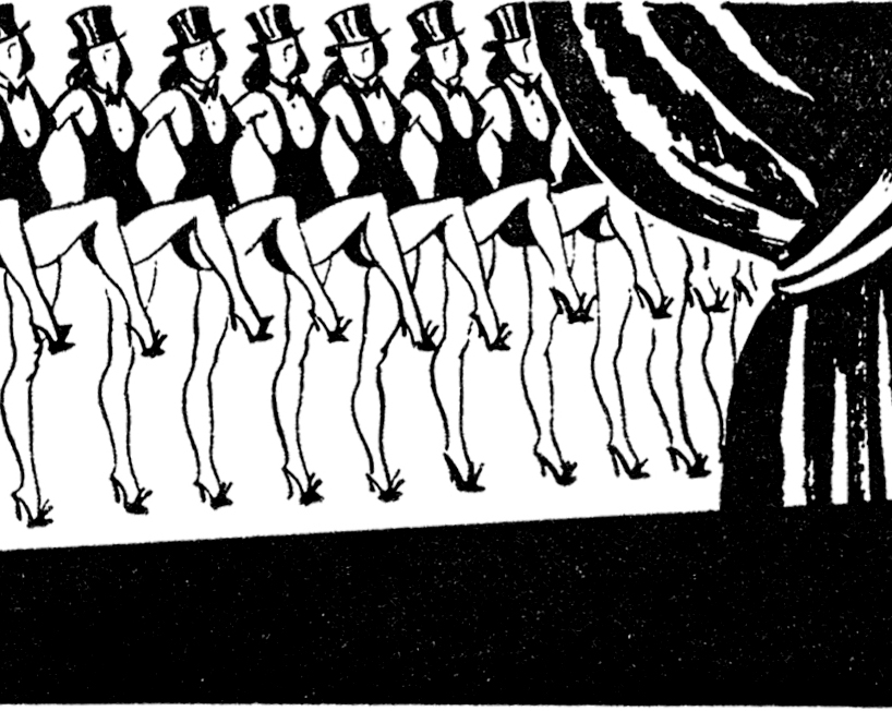 Retro Chorus Line Dancers Image!.