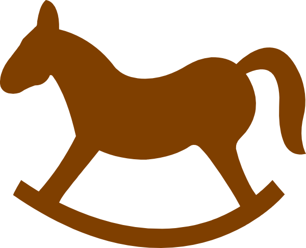 Brown Rocking Horse Clip Art at Clker.com.